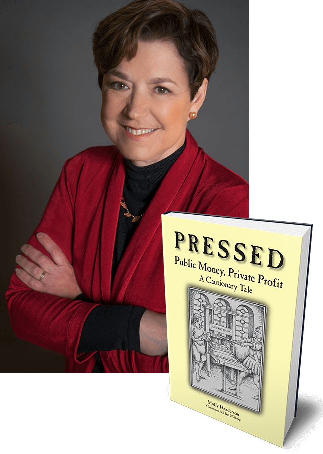 Molly Henderson with Pressed book